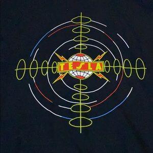 NWOT Tesla Band Vintage Concert Tour T-shirt